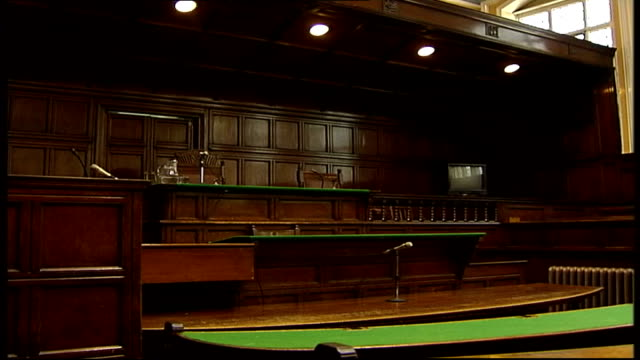 Tom and Gwen Geeling criticise lenient sentencing FILE / Date Unknown Interior of empty courtroom TILT DOWN to judge's seat SIDE Judge's seat PAN to...