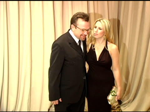 Tom Arnold and wife Shelby at the 2005 Courage Award Given To Lance Armstrong At Saks Fifth Avenue's Unforgettable Evening at the Regent Beverly...