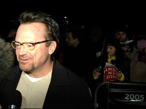 tom arnold at the 2005 sundance film festival 'happy endings' opening night premiere at the eccles theatre in park city, utah on january 20, 2005. - park city utah video stock e b–roll