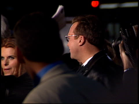 tom arnold at the 'collateral damage' premiere at the mann village theatre in westwood, california on february 4, 2002. - tom arnold stock videos & royalty-free footage