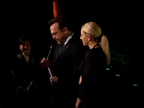 tom arnold at the mentor foundation gala with queen of sweden at paramount studios in hollywood, california on november 3, 2002. - tom arnold stock videos & royalty-free footage
