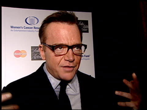 tom arnold on being here, how he just had a mammogram, being single, and finding a date tonight at the saks 'unforgettable evening' benefiting eif's... - tom arnold stock videos & royalty-free footage