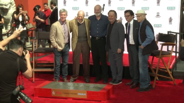 tom bergeron carl reiner rob reiner billy crystal ben mankiewicz norman lear at the 2017 tcm classic film festival carl reiner and rob reiner hand... - norman lear stock videos and b-roll footage