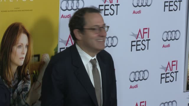 vídeos y material grabado en eventos de stock de tom bernard and michael barker at afi fest 2014 presented by audi still alice premiere at dolby theatre on november 12 2014 in hollywood california - teatro dolby