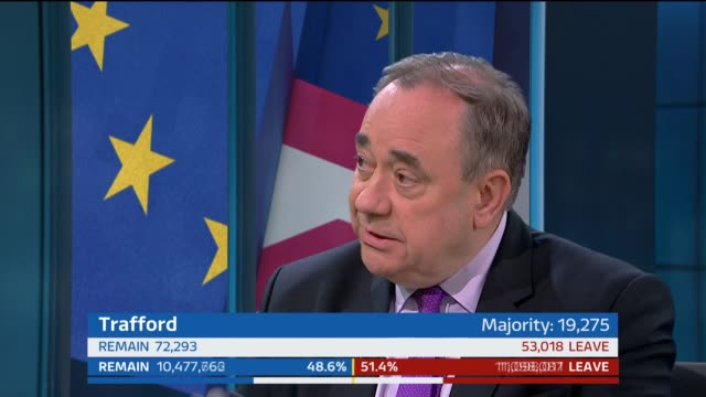 tom bradby alex salmond mp live studio interview sot on probability of another scottish independence referendum bradby discussion with alex salmond... - dover kent stock-videos und b-roll-filmmaterial