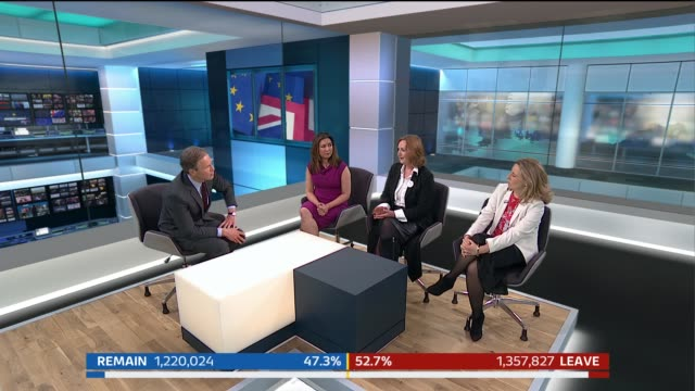 special 0200 0300 tom bradby discussion with colin rallings and reporter allegra stratton/ tom bradby panel discussion with ayesha hazarika suzanne... - イギリス海峡点の映像素材/bロール