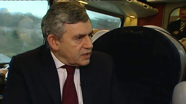 tom bradby interviews with gordon brown; q: could we have prepared better? brown sot - that is not issue / level of debt in britain is not issue - we... - moving down stock videos & royalty-free footage