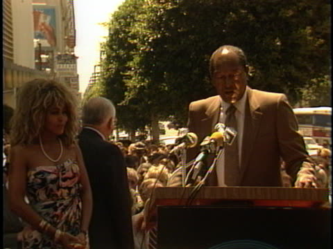 Tom Bradley at the Tina Turners Walk of Fame Star at Vine Street at Capitol Records
