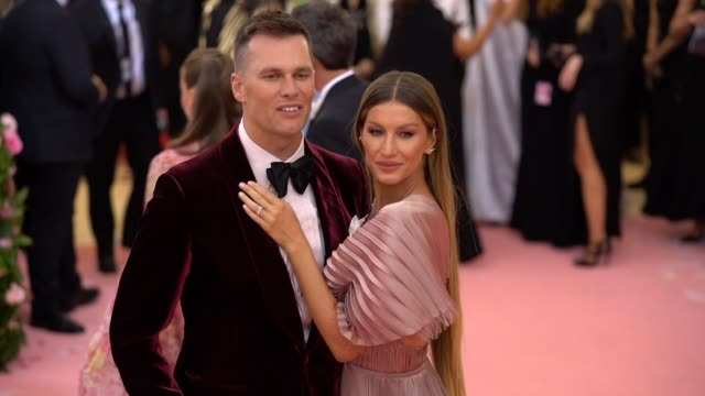 Tom Brady and Gisele Bündchen at The 2019 Met Gala Celebrating Camp Notes on Fashion Arrivals at Metropolitan Museum of Art on May 06 2019 in New...