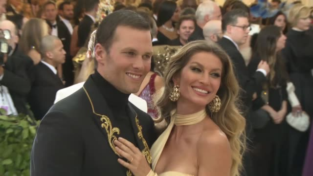 Tom Brady and Gisele Bundchen at Heavenly Bodies Fashion The Catholic Imagination Costume Institute Gala at The Metropolitan Museum of Art on May 07...