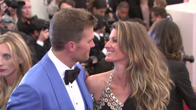 Tom Brady and Gisele Bundchen at PUNK Chaos To Couture Costume Institute Gala at Metropolitan Museum of Art on May 06 2013 in New York New York