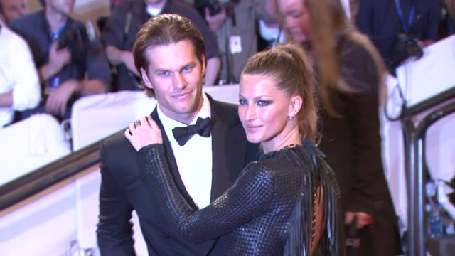 Tom Brady and Gisele Bundchen at the 'American Woman Fashioning A National Identity' Met Gala Arrivals at New York NY