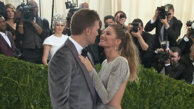 Tom Brady Gisele Bundchen at Rei Kawakubo/Comme des Garcons Art Of The InBetween Costume Institute Gala Arrivals at The Metropolitan Museum of Art on...