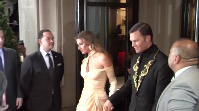 Tom Brady Gisele Bundchen leave The Mark Hotel for the Met Gala in New York City in Celebrity Sightings in New York