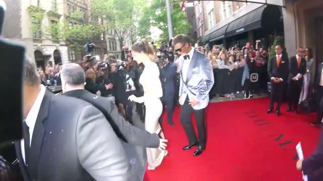 Tom Brady Gisele Bundchen outside The Mark Hotel in New York in Celebrity Sightings in New York