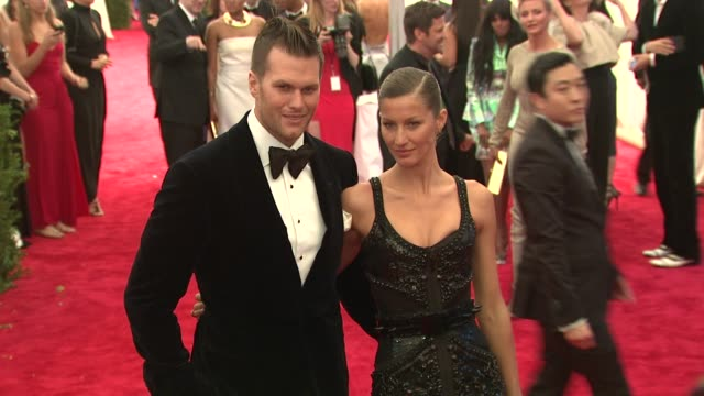 Tom Brady Giselle Bundchen at Schiaparelli And Prada Impossible Conversations Costume Institute Gala at Metropolitan Museum of Art on May 07 2012 in...