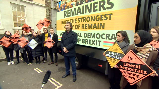 tom brake saying the lib dems need to run the best biggest operation to stop boris johnson getting a majority - encouragement stock videos & royalty-free footage