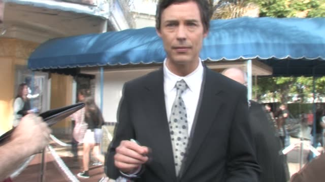 tom cavanagh signs at at the yogi bear 3d premiere in westwood village in westwood at the celebrity sightings in los angeles at los angeles ca. - westwood village stock videos & royalty-free footage