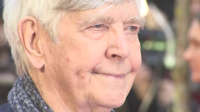 tom courtenay at the guernsey literary and potato peel pie society world premiere at the curzon mayfair on april 9 2018 in london england - tom courtenay stock videos & royalty-free footage