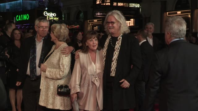 tom courtenay maggie smith dustin hoffman pauline collins billy connolly at quartet premiere 56th bfi london film festival at odeon west end on... - tom courtenay stock videos & royalty-free footage