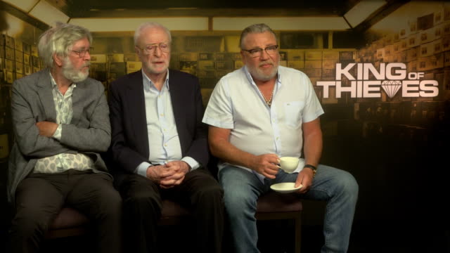 interview tom courtenay michael caine ray winstone on if anyone annoyed them on set at 'king of thieves' interviews at on september 11 2018 in london... - tom courtenay stock videos & royalty-free footage