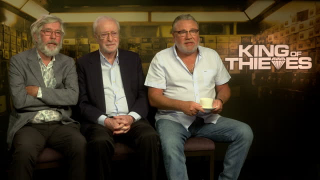 interview tom courtenay michael caine ray winstone on if press days get any easier at 'king of thieves' interviews at on september 11 2018 in london... - tom courtenay stock videos & royalty-free footage