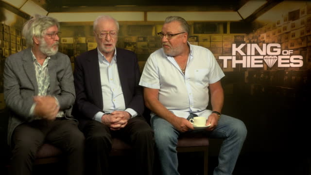 interview tom courtenay michael caine ray winstone on if their partners are now asking for diamonds after making the film at 'king of thieves'... - tom courtenay stock videos & royalty-free footage