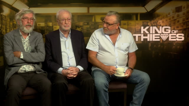 interview tom courtenay michael caine ray winstone on tom courtenay's beard at 'king of thieves' interviews at on september 11 2018 in london england - tom courtenay stock videos & royalty-free footage