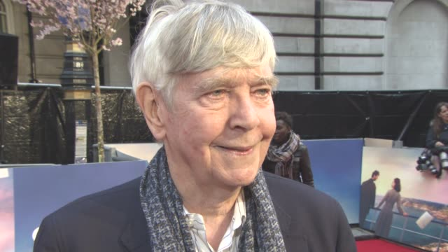 interview tom courtenay on what attracted him to the role and the power of literature at the guernsey literary and potato peel pie society world... - tom courtenay stock videos & royalty-free footage