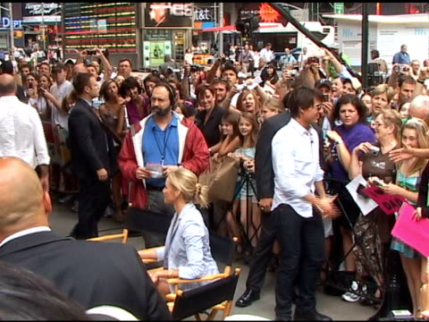tom cruise and cameron diaz outside good morning america at the celebrity sightings in new york at new york ny - good morning america stock videos and b-roll footage