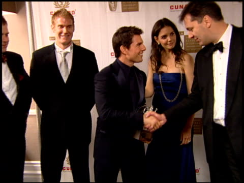 Tom Cruise and Katie Holmes at the 2005 BAFTA/LA Cunard Britannia Awards Backstage at the Beverly Hilton in Beverly Hills California on November 10...