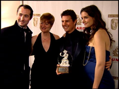 tom cruise and katie holmes at the 2005 bafta/la cunard britannia awards backstage at the beverly hilton in beverly hills california on november 10... - katie holmes stock videos and b-roll footage