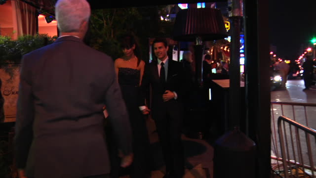 tom cruise and katie holmes at the 2012 vanity fair oscar party hosted by graydon carter - inside party at west hollywood ca. - oscar party stock videos & royalty-free footage