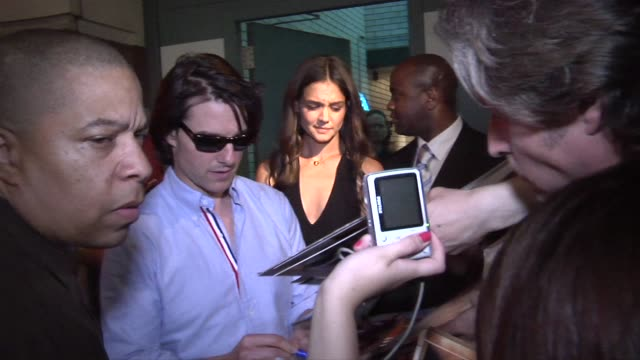 tom cruise and katie holmes at the don't be afraid of the dark premiere - tom cruise stock videos & royalty-free footage