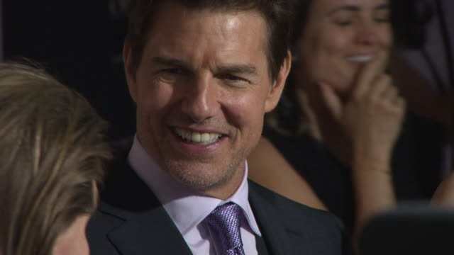 tom cruise at 'mission impossible fallout' uk premiere at bfi imax on july 13 2018 in london england - tom cruise stock videos & royalty-free footage