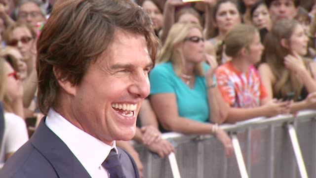 tom cruise at 'mission impossible rogue nation' new york premiere - tom cruise stock videos & royalty-free footage