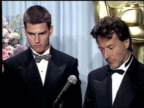 tom cruise at the 1989 academy awards at the shrine auditorium in los angeles, california on march 29, 1989. - shrine auditorium stock videos & royalty-free footage