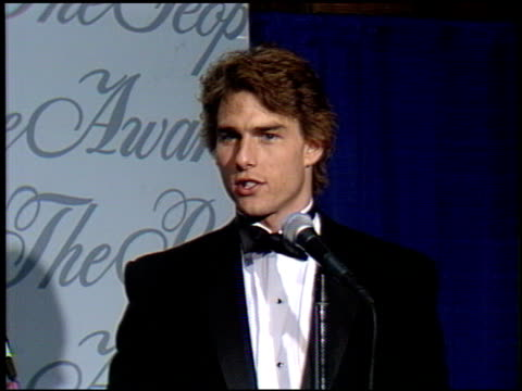 tom cruise at the 1990 people's choice awards at universal studios in universal city california on march 11 1990 - tom cruise stock videos & royalty-free footage