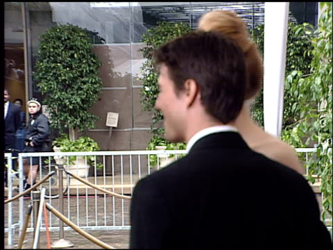 tom cruise at the 1996 golden globe awards at the beverly hilton in beverly hills, california on january 21, 1996. - 1996 stock videos & royalty-free footage
