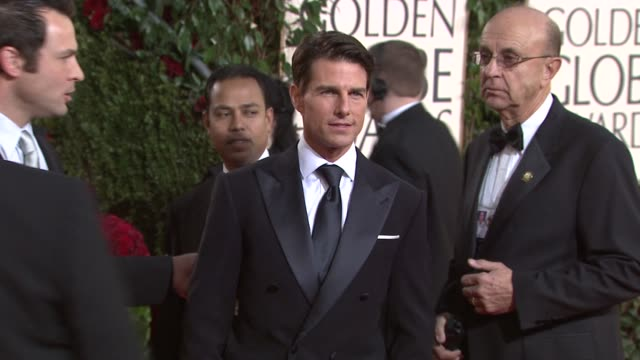 tom cruise at the 66th annual golden globe awards arrivals part 5 at los angeles ca. - golden globe awards stock videos & royalty-free footage