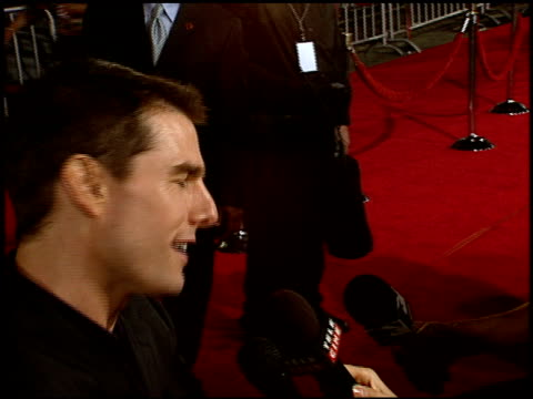 tom cruise at the 'collateral' premiere at orpheum theatre in los angeles, california on august 2, 2004. - orpheum theatre stock videos & royalty-free footage