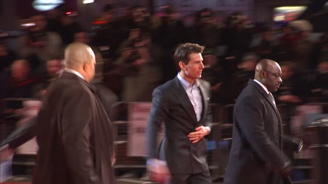tom cruise at the uk valkyrie uk premiere at london - tom cruise stock videos & royalty-free footage