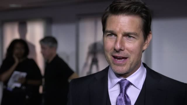 tom cruise gives an interview about how he broke his ankle and continued to run on it after an intense stunt went wrong the mission impossible actor... - tom cruise stock videos & royalty-free footage