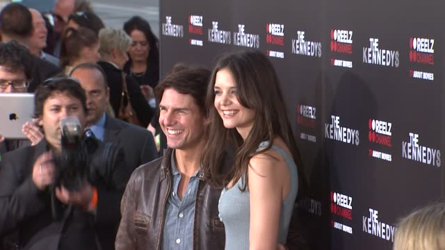 tom cruise katie holmes at the the reelzchannel world premiere of 'the kennedys' at beverly hills ca - tom cruise stock videos & royalty-free footage