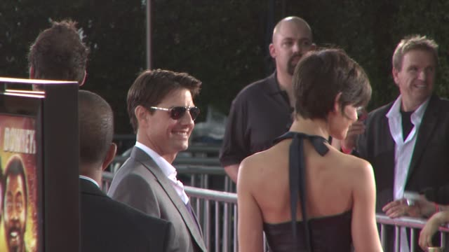 Tom Cruise Katie Holmes at the TROPIC THUNDER premiere at Los Angeles CA