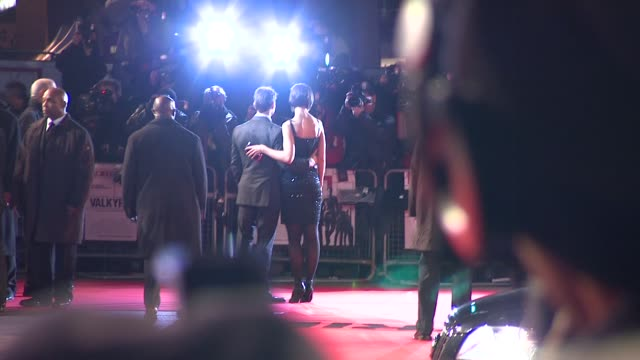 tom cruise katie holmes at the uk valkyrie uk premiere at london - katie holmes stock videos and b-roll footage