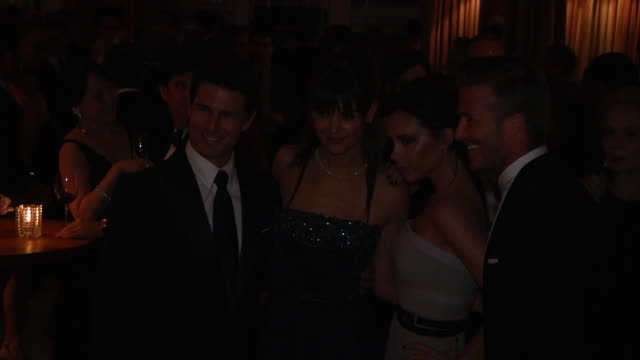 Tom Cruise Katie Holmes Victoria Beckham David Beckham at the 2012 Vanity Fair Oscar Party Hosted By Graydon Carter Inside Party at West Hollywood CA