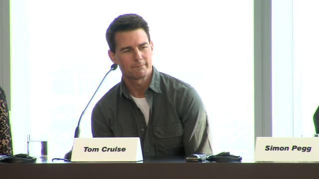 tom cruise on his fear of falling at the mission impossible ghost protocol press conference 8th dubai international film festival uae - tom cruise stock videos & royalty-free footage