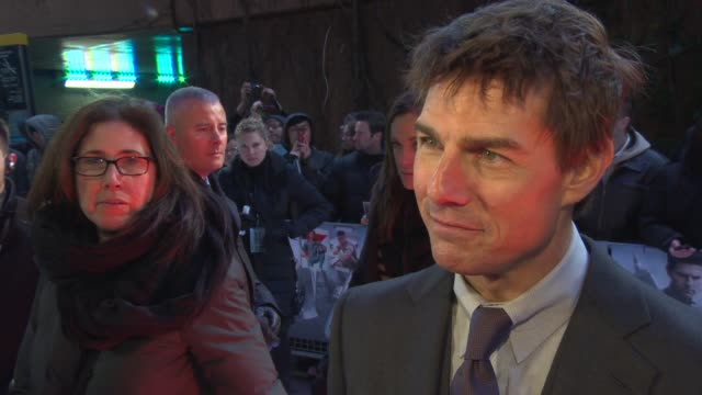 tom cruise on how he stays so chill and writing his autobiography at the oblivion uk premiere on the 4th april 2013 in london - autobiography stock videos & royalty-free footage