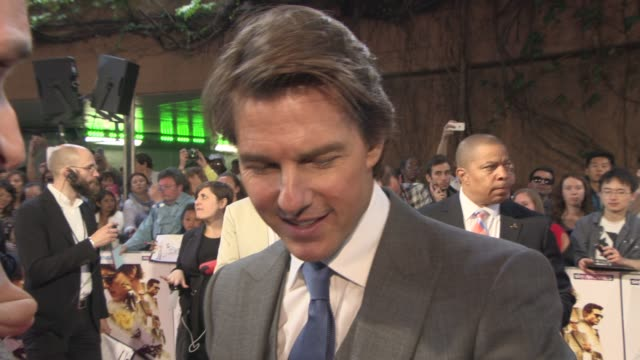 interview tom cruise on stunts in the film the franchise being so successful looking forward to the next star wars praising the british armed forces... - franchising stock-videos und b-roll-filmmaterial